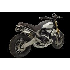 HP CORSE HYDROFORM CORSA SHORT Racing Slip Ons For Ducati Scrambler 1100