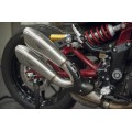 HP CORSE Hydroform Slip On and Cat Delete Link Pipe for Indian FTR 1200