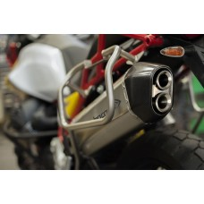 HP CORSE SPS Carbon Slip on and Racing Link Pipe for Moto Guzzi V85 TT