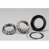 AELLA Large Hub Two Titanium Nuts & Aluminum Taper Cone Set (Rear Axle)