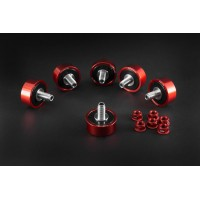 AEM FACTORY - 6 DUCATI TITANIUM CUSH DRIVES WITH COLOR MATCHED ALUMINUM NUTS