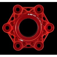 AEM FACTORY - 'D-SEI' DUCATI 6 HOLE ALUMINIUM BILLET LIGHTWEIGHT HUB FLANGE for Ducati Panigale V4 / S / R / Speciale