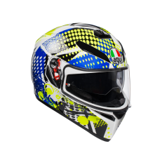 AGV K-3 SV POP WHITE/BLUE/LIME HELMET