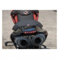 AviaCompositi Carbon Fiber Tail For Dual Muffler Exhausts for Ducati Hypermotard 1100 / Evo / 796