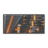Beta Tools MC10-34 Soft thermoformed tray with tool assortment