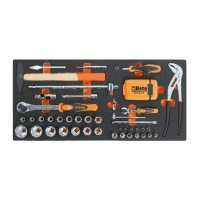 Beta Tools MC20-74 Soft thermoformed tray with tool assortment