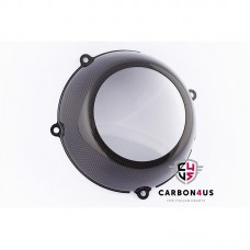 Carbon4us Carbon Fiber Closed Dry Clutch Cover with Clear Window for Ducati