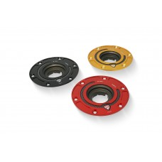 CNC Racing Aluminum with Carbon Inlay Gas Cap Flange for Ducati Multistrada 1200 / 1260 / 950, Diavel 1260, and Hypermotard 950