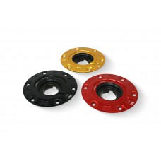 CNC Racing 'GEAR' Aluminum Gas Cap Flange for Ducati Multistrada 1200 / 1260 / 950, Diavel 1260, and Hypermotard 950