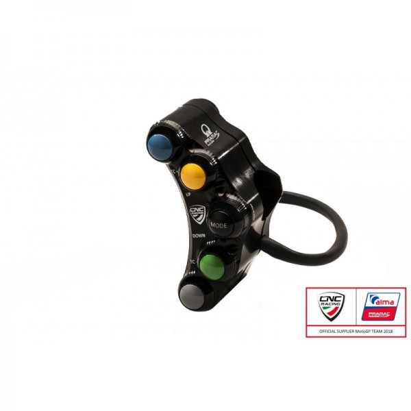 CNC Racing PRAMAC EDITION Left Hand Side Billet 7 Button RACE Switch for Ducati Panigale V4 / S / R / Speciale