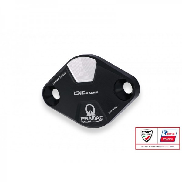 CNC Racing PRAMAC Edition Timing Inspection Cover for the Ducati Panigale V4 / S / Speciale