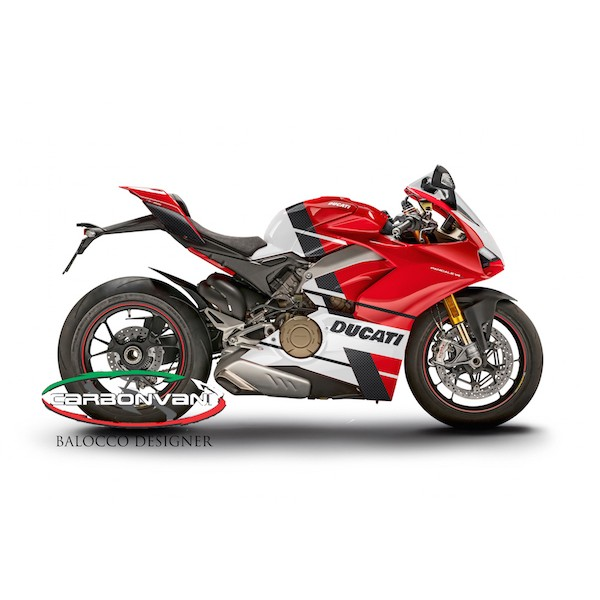 "Carbonvani - Ducati Panigale V4 / S / Speciale ""JENA Ver 1"" Design Carbon Fiber Full Fairing Kit - ROAD VERSION (8 pieces)"