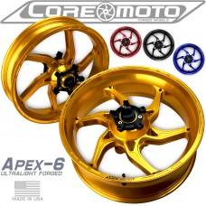 Core Moto APEX-6 Forged Aluminum Wheels for the Aprilia RSV4 and Tuono V4 (2009-2012)
