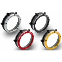 Ducabike Dual Color Clear Wet Clutch Cover for the Ducati Panigale V4 / S / Speciale