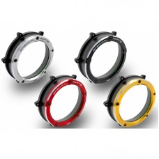 Ducabike Dual Color Clear Wet Clutch Cover for the Ducati Panigale / Streetfighter V4 / S / Speciale
