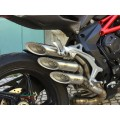 FF By Fresco Slip-on TRIPLE SLASH Exhaust for MV Agusta F3 675/800, Brutale, SuperVeloce, And Dragster 800 2017+