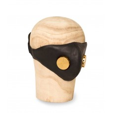 Hedon Hannibal Black Toxic Brass Leather Mask