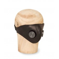 Hedon Hannibal Black Hypno Gunmetal Leather Mask
