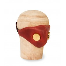 Hedon Hannibal Red Toxic Brass Leather Mask