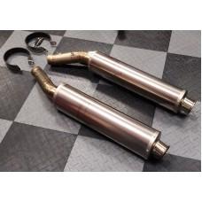 Used Akrapovic Titanium Slip Ons for the Aprilia RSV 1000 (04-08) and TUONO (06-10)
