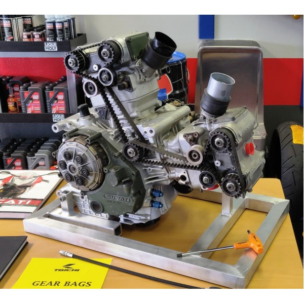 Ducati Corse 955 WSBK Factory Racing Engine - Used for only 3 laps - With Beautiful Engine Stand.