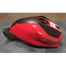 Used - Carbonvani Carbon Fiber Gas Tank with Corse Red Paint - Needs repair