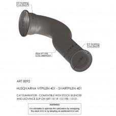 Leo Vince Cat Eliminator (link Pipe) Husqvarna Svartpilen 401/Vitpilen 401 '18 - 19
