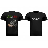 "BellissiMoto ""Look better NAKED"" T-Shirt"