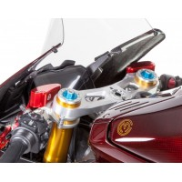Motocorse Billet Brake and Clutch Reservoirs for OE Master Cylinders for Ducati and MV F4 RR/RC