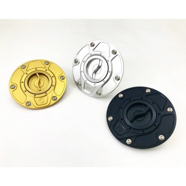 Motocorse NEW DESIGN Billet Aluminum Gas Cap for Ducati Multistrada 1200 / 1260 / 950, Diavel 1260, and Hypermotard 950
