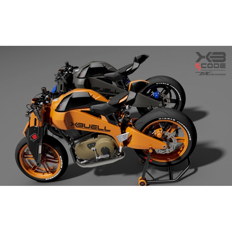 Paolo Tex Design XB gcode 1 2 Bodykit for Buell XB12