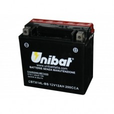 Unibat CBTX14L-BS Battery with 3 yr Warranty