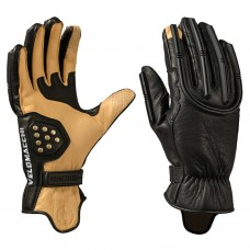 VELOMACCHI SPEEDWAY GLOVES - BLACK / TAN