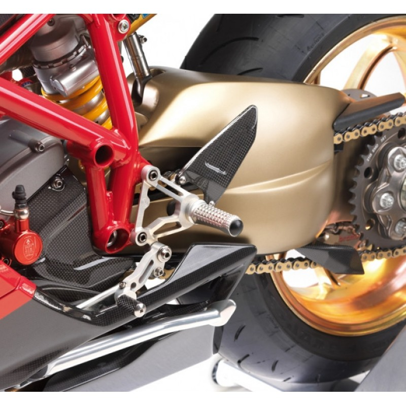 Motocorse Billet Aluminum Rearsets with Titanium Hardware for the