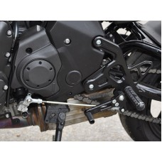 WOODCRAFT Kawasaki Ninja 650 (12+) Complete Adjustable Rearset Kit W/Shift & Brake Pedals  Black