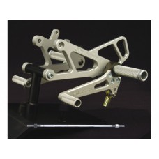 WOODCRAFT Aprilia RS250 Complete Rearsets Kit with 3 Piece pedals