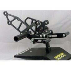 WOODCRAFT Kawasaki EX250 (88-07) Rearset Kit Complete w/Pedals  Black
