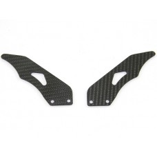 Ducabike Carbon Fiber Passenger Heel Guards for the Ducati Hypermotard 1100 and Multistrada 620/1000/1100