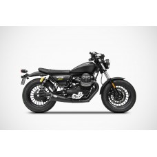 ZARD 'BIG' Dual Slip-on Exhaust for Moto Guzzi V9 Bobber & Roamer