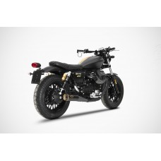 ZARD 'SLIM' Dual Slip-on Exhaust for Moto Guzzi V9 Bobber & Roamer