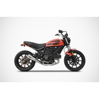 ZARD Conical Slip-on Exhaust for Ducati Scrambler SIXTY2