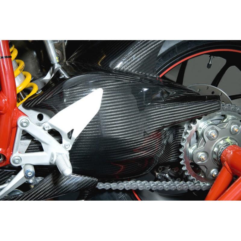 Carbondry Ducati 848 1098 1198 Carbon Fiber Swingarm Cover