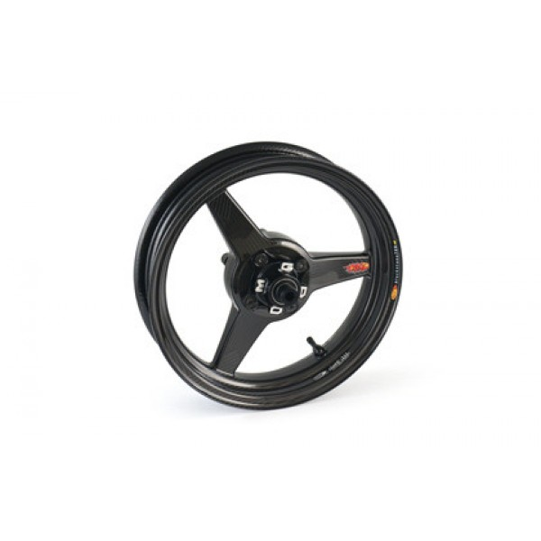 BST Diamond TEK 3 Spoke Carbon Fiber Front Wheel for the Kawasaki Z125 Pro - 2.75 x 12