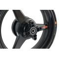 BST Diamond TEK 3 Spoke Carbon Fiber Front / Rear Wheel for the Kawasaki Z125 Pro - 3.5 x 12