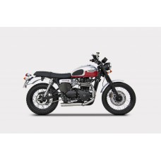 ZARD 'CROSS' Conical Exhaust for Triumph Scrambler  Thruxton and Bonneville