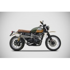 ZARD 2>1 STEEL RACING GOLD EDITION FULL KIT Exhaust for Triumph Scrambler