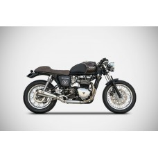 ZARD 'BAD CHILD' 2 into 1 Full Exhaust for Triumph Scrambler  Thruxton and Bonneville