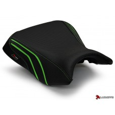 LUIMOTO ( Team Kawaski) Rider Seat Covers for the  KAWASAKI ER6N ER6F 650 (12-16)