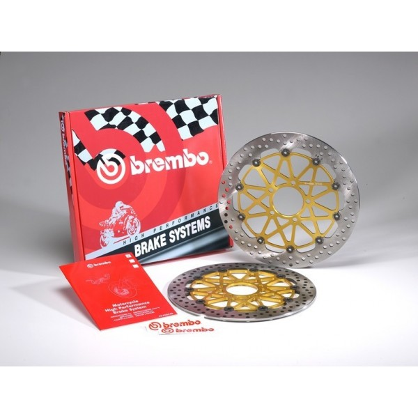 Brembo 300mm Rotor Kit for the Kawasaki Z1000/ZX10R/ZX6R/ER-6N/ZX6RR