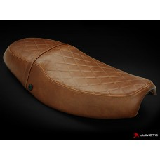 LUIMOTO ( Vintage) Rider Seat Covers for the Triumph THRUXTON (04-15)